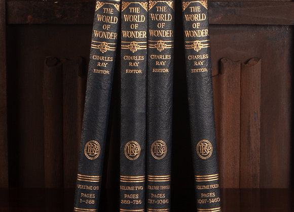 Four Early 20th Century Volumes of The Wonder of the World
