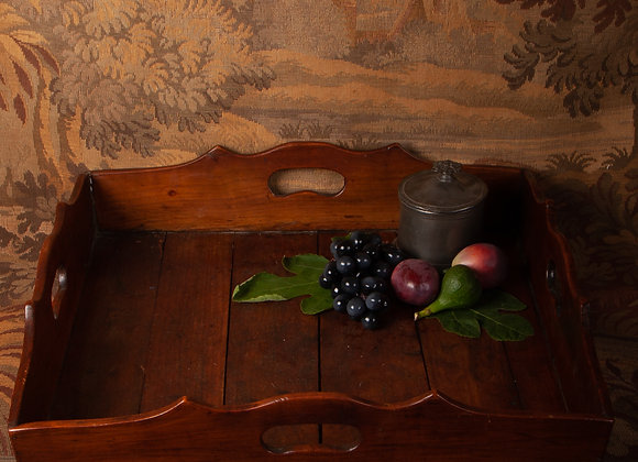 A Mid 19th Century Cherry Wood Serving Tray
