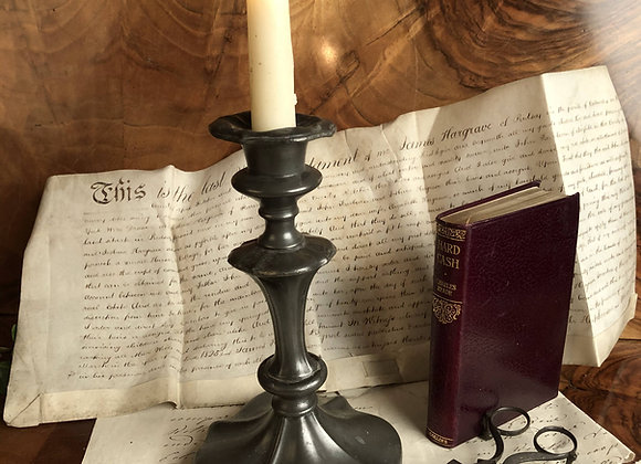 Single Pewter Candlestick
