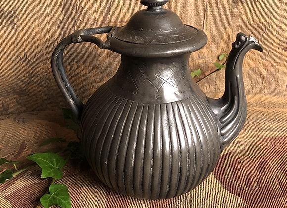 Victorian Pewter Tea Pot