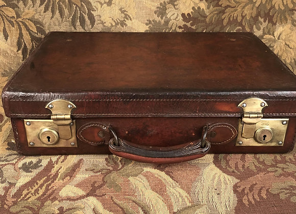 Late Victorian Leather Suitcase