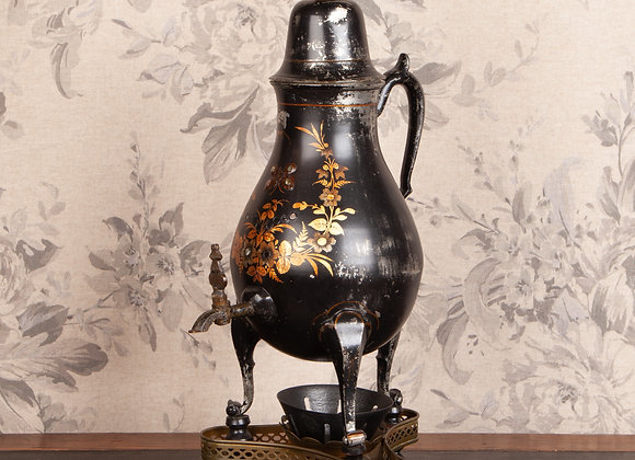 Victorian Toile Work Samovar/Tea Urn