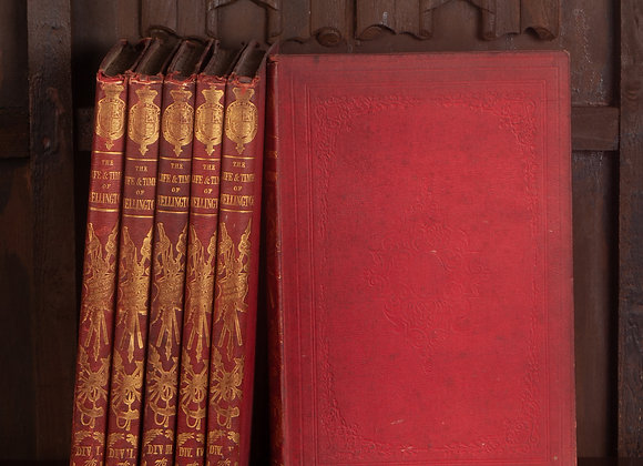 6 Late Victorian Volumes of Life and Times of Wellington