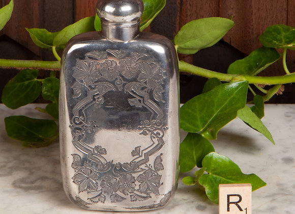Victorian Silver Plated Hip Flask