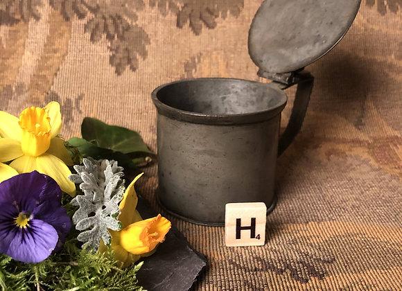 Pewter Lidded Mustard Pot
