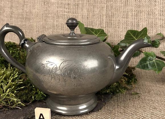 Victorian Small Pewter Tea Pot