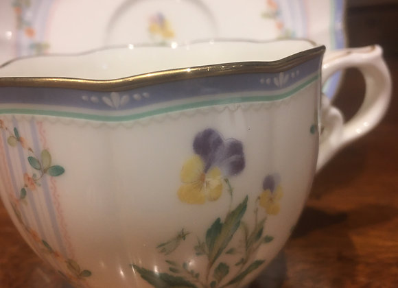 Noritake China Coffee Cup and Saucer