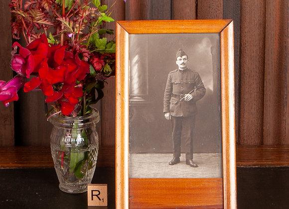 Edwardian Beech Wood Photo Frame