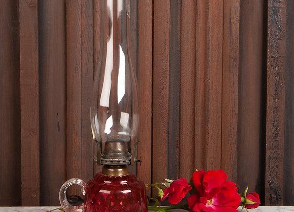 Victorian Cranberry Glass Paraffin Lamp