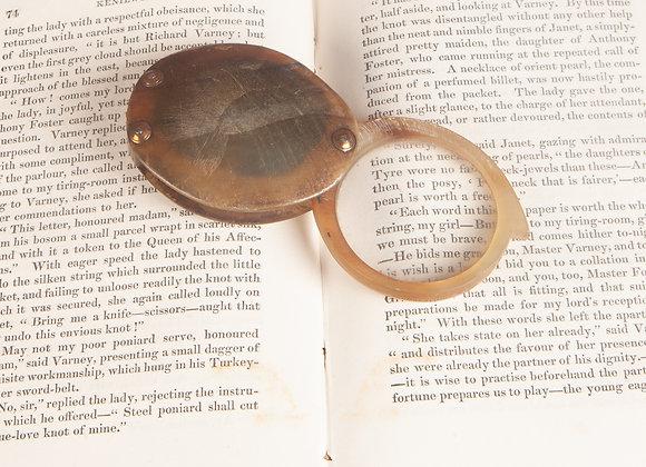 A Georgian Folding Horn Magnifying Glass