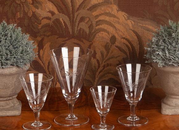 Large suite of Art Deco Glasses -  41 pieces
