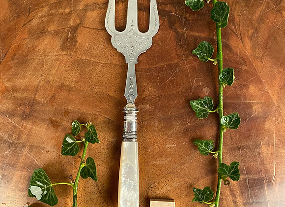 Victorian Mother of Pearl Handled Bread Fork