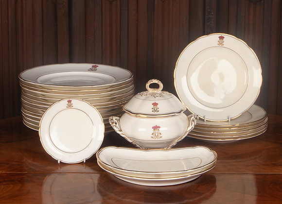 A Part Dinner Set by Coalport China Early 20th Century 21 pieces.