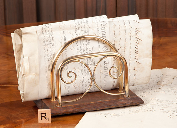 A Late Victorian  Brass Letter Rack