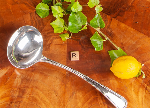 A Large Early 20th Century Silver Plated Soup Ladle
