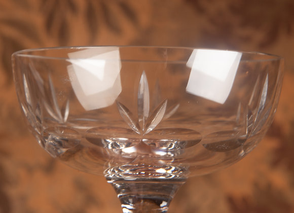 Early 20th Century Champagne Coupe with Sprig Design  - 22 Available