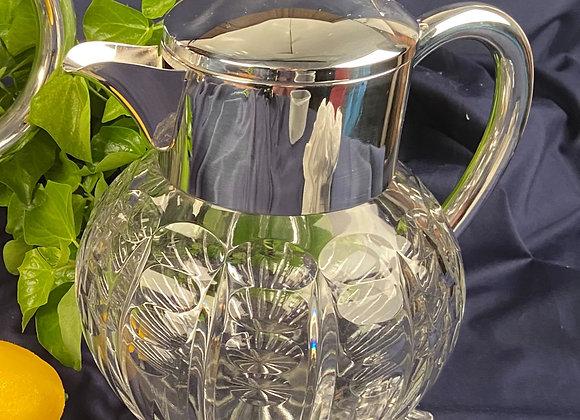Silver Plated and Cut Glass Lemonade Jug