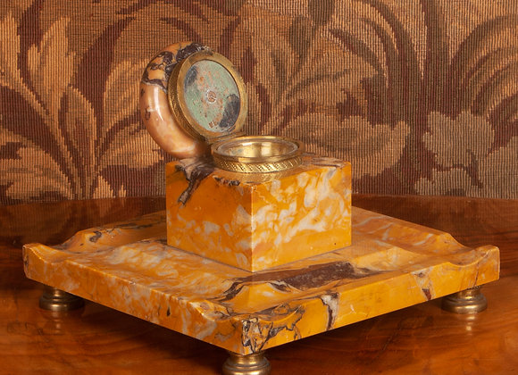 Large Victorian  Marble Inkstand