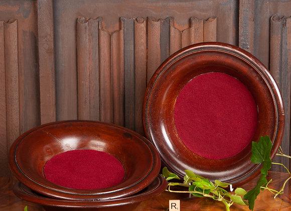3 Large Victorian Oak  Church Offertory Bowls