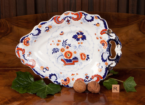Victorian Ironstone Serving Plate in the Imari Design