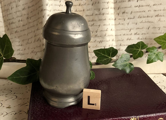Small Lidded Pewter Tobacco Pot