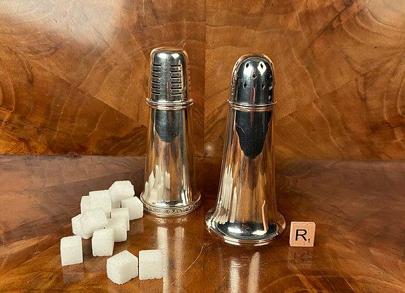 A Pair of Art Deco Sugar Shakers