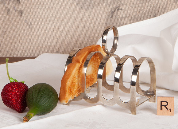 An Early 20th Century Silver Plated Toast Rack