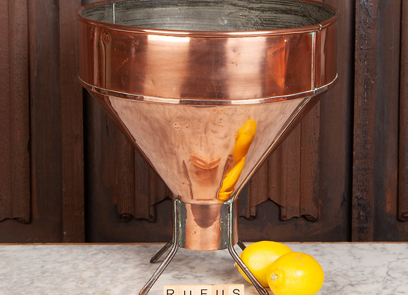 Large Free-Standing Copper Funnel