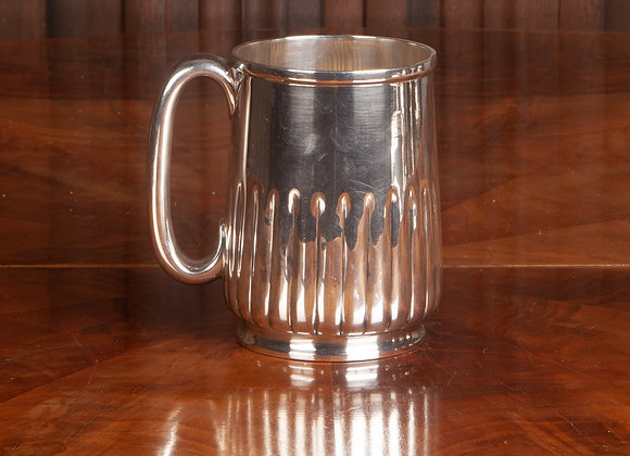 Large Victorian Silver Plated Tankard