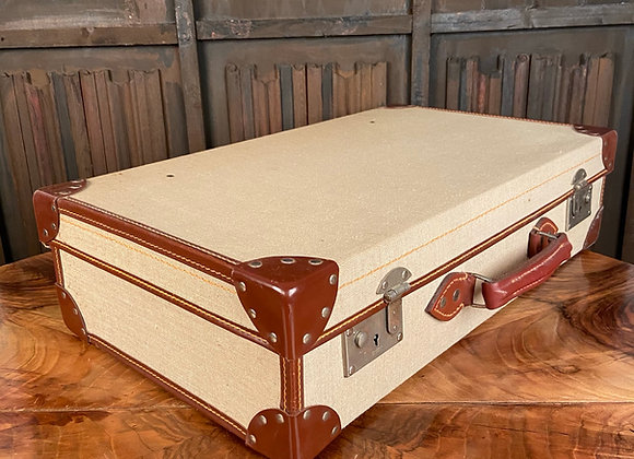 Canvas Covered Suitcase