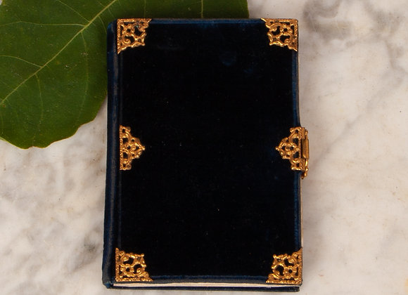 A Victorian Velvet Covered Note book
