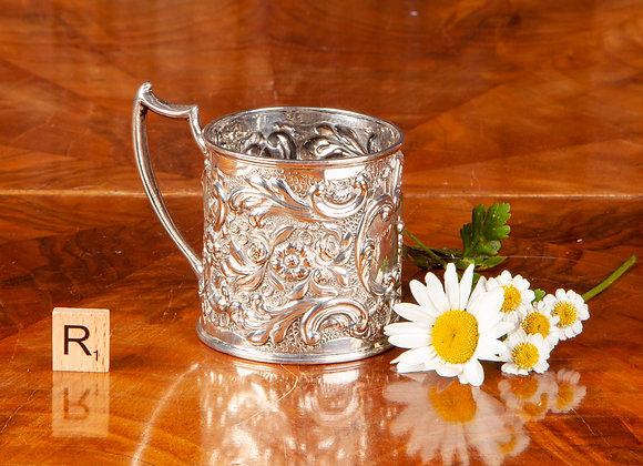 Victorian Silver Plated Christening Cup