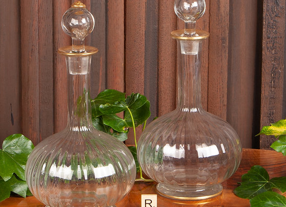 A Pair of Victorian Decanters with Gilded Decoration