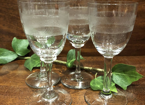 Set of Four Rolling Money Sherry Glasses