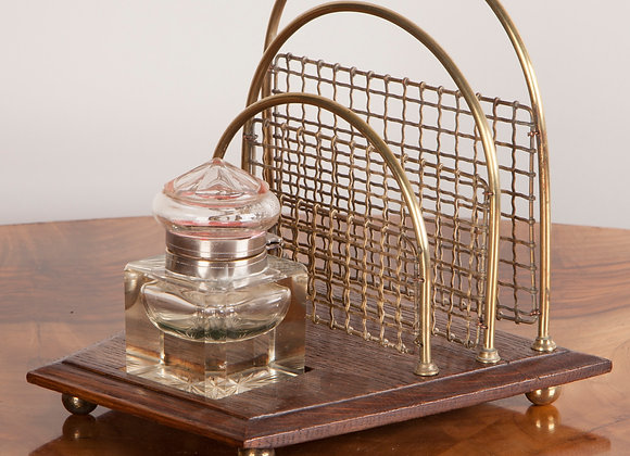 Victorian Ink Stand with Letter Rack