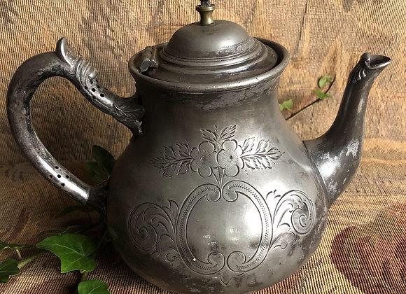 Pewter Tea Pot Victorian
