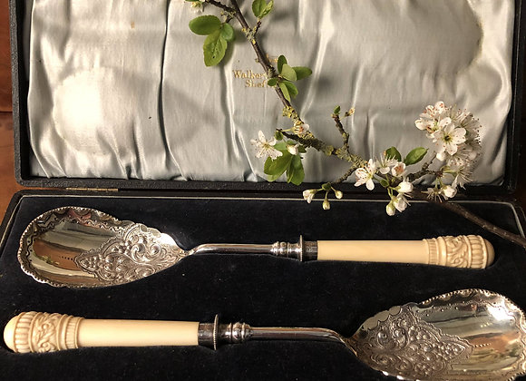 A Cased Set of Victorian Serving Spoons