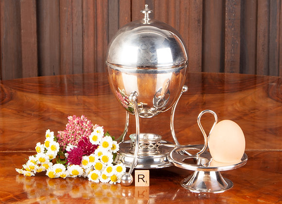 Art Deco Silver Plated Egg Coddler