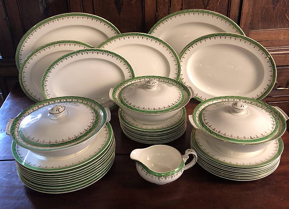 Early 20th Century Art Deco Large Dinner Service