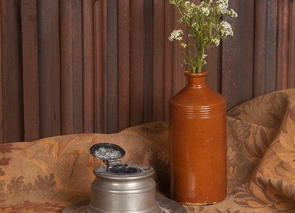 Large Georgian Pewter Inkwell or Pot