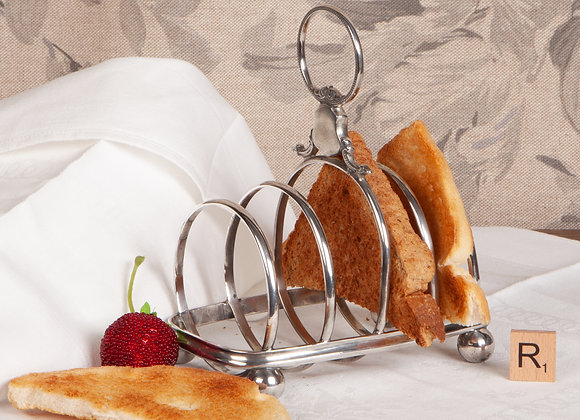 A Large Edwardian  Silver Plated Toast Rack