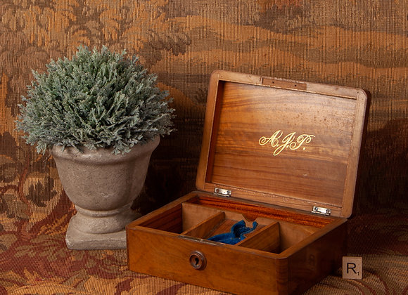 Late Victorian Olive Wood Jewellrey Box