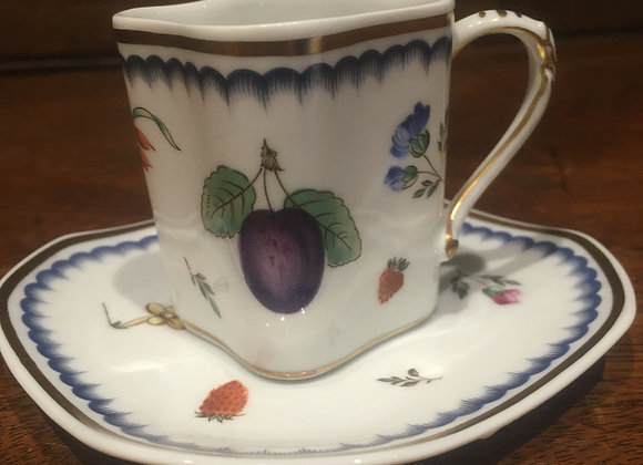 Italian Porcelain Coffee Can and Saucer