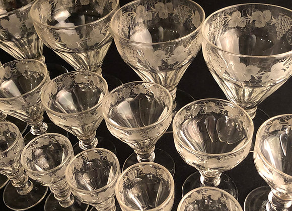Fabulous Suite of 19th Century Glass