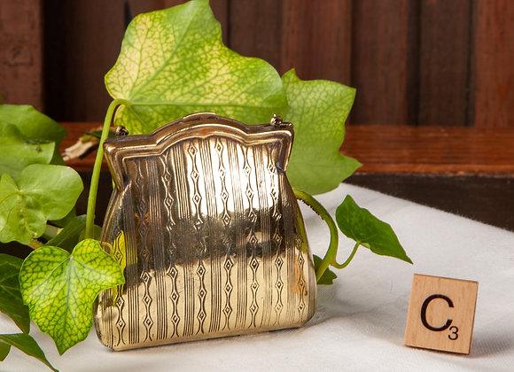 An Early 20th Century Brass Ladies Purse/ Handbag