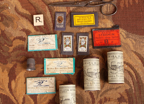 A Group of Victorian Sewing Items
