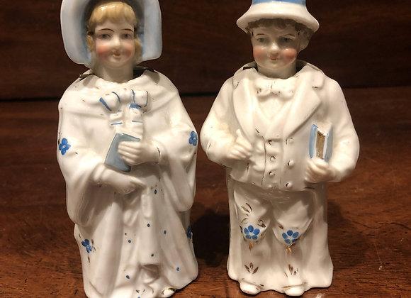 Girl and Boy German Nodders