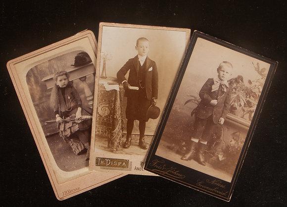 3 x  Victorian Children's Photographs