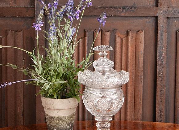 Victorian Heavy Cut Lidded Sweet Jar