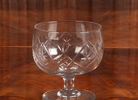 A Large Victorian Cut Glass Sugar or Sweetmeat Bowl